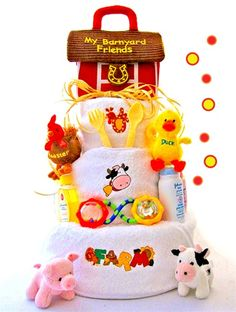 Farm Themed Diaper Cake