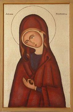 icon art, norwich, icon orthodox, julian, saint