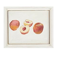 """White Peaches"" by John Bucklin, available at Serena & Lily. #serenaandlily"