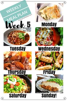 Welcome back to another addition of our Easy Weekly Meal Planning Week 5. The first one of 2017! Let's start this year off with a killer meal plan, shall we Easy Weekly Meal Plan Week 5 MAIN DISH Monday – Homemade Chicken Pot Pie Tuesday – Crockpot Chicken Taco Soup (w/ vegetarian option) …