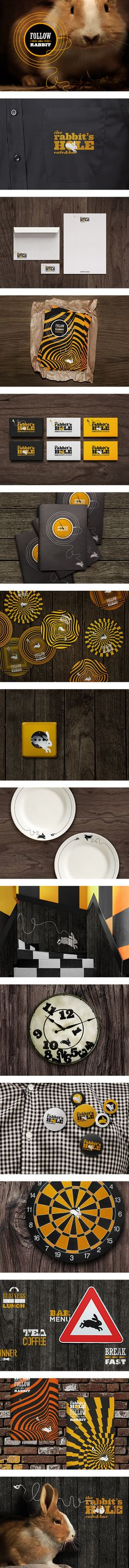 The rabbits hole on Behance #identity #packaging #branding #marketing PD