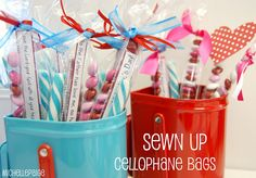 Make your own cellophane skinny bags