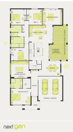 McDonald Jones Homes -Garden Retreat Collection - Floorplan #Floorplans #luxuryhome