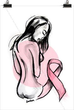 Pink Ribbon painting   SMÄM