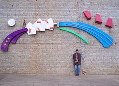 Powder coated wall Sculpture