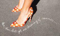 """the shoe that got me dreaming of summer..."" -garance"