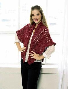 Triangular Shawl Crochet Pattern