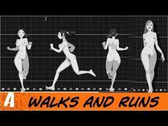 Animated walks and runs (from Felix Sputnik)