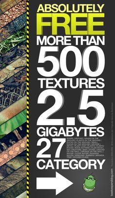 'Free Texture Pack' by Beekeeper , via Behance