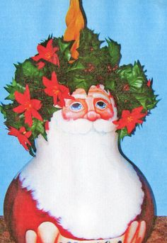 XL gourd - Noel santa; Lola Stude
