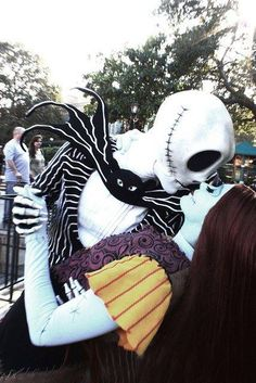 COOL... except Jacks skeleton head hear kinda looks like an alien... hmm... other than that very awesome! Henry n i may go as Jack & Sally!! :)