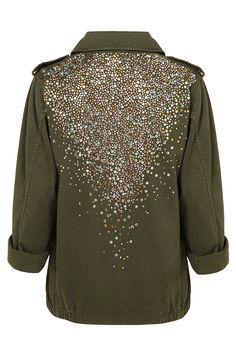 Crystal Army jacket.........wow!