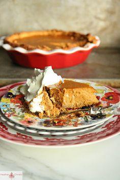 Pumpkin Graham Cracker pie by Heather Christo