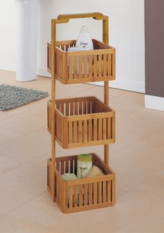 ORGANIZE IT ALL Bamboo Stationary Caddy
