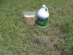 How to get rid of Fire Ants: Generously sprinkle the mound with baking soda. If large, poke holes in the mound and fill 'em with baking soda. After the mound has been treated with sodium bicarbonate, you're ready to add vinegar. Pour a generous amount of vinegar on the mound, a small mound (like the one illustrated) takes about a quart, larger ones up to a half a gallon.