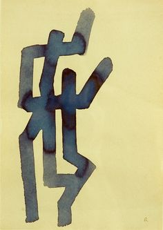 A. R. Penck Untitled,1969 ink on paper29 x 21cm