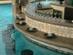 swimming pools, outdoor pool bar, dream hous, outdoor space, outdoor live