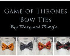Game of Thrones House Sigil Print Bowtie / Bow Tie Lannister Stark Targaryen Baratheon Houses