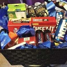 Gift basket for guys (made it myself for the bf)