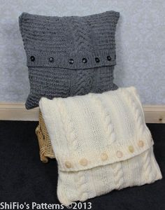 Knitting on Pinterest Knitting Patterns, Cushion Covers and Cushions