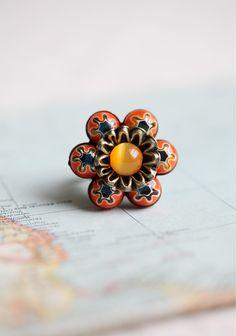 Mellefiori Flower Ring By Ollipop. Ruche.