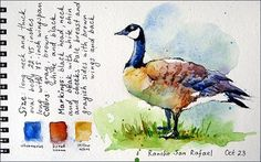 Watercolors by Maria Stezhko: Sketching in the park