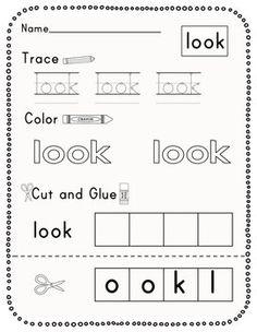 Kindergarten Journeys Sight Word Practice Sheets