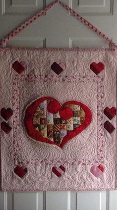 24 Blocks valentin quilt, small quilt, box, chanta quilt