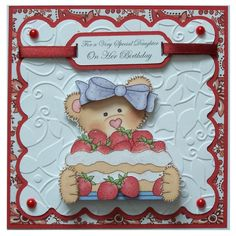 Handmade Daughter Birthday Card £2.50 By Helle Belles Cards