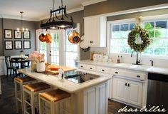 kitchen  grey walls....