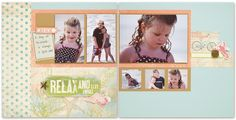 "Seaside: 12"" x 12"" Relax Layout"