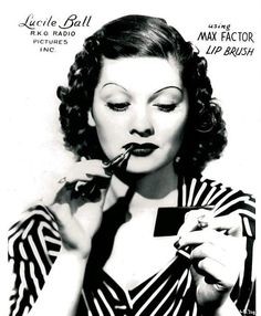 vintag, peopl, balls, max factor, lucil ball, makeup, lucille ball, lucill ball, 1930