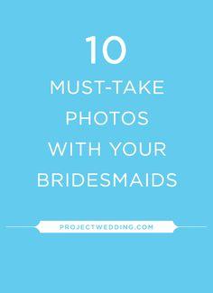 Get the best pics with your bridesmaids...the ones you'll want to keep forever! :) #Bridemaids #bridalparty #wedding #weddingphotos #photoinspirations #weddingideas #weddingideas