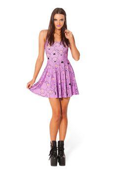 Lumpy Space Princess Reversible Skater Dress by Black Milk Clothing $95AUD