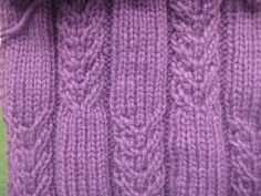 Faux Cabled Scarf by Rebecca Lennox