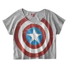 License Juniors Captain America Shield Graphic Tee - I want this for my son's super hero themed birthday party! $14.99 themed birthday parties, hero imag, fashion, heroes, style, outfit