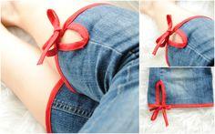 turn jeans into cute capris