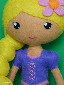 Kosucas : Rapunzel de fieltro.