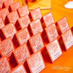 Anne Anderson Events Inc. card idea, place card, escort cards, card pictur