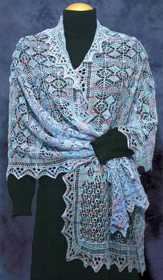 Fiddlesticks Knitting--Dorothy Siemens--Inky-dinky Spider Stole