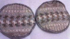 Recycled Nordic Wool  Nursing Pads Pair by LagamorphLounge on Etsy, $5.50