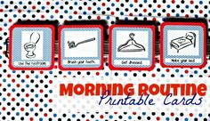 Morning Routine Printable Cards from I Can Teach My Child