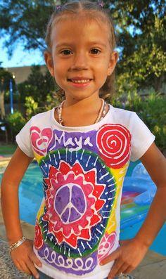 "Parade Day t-shirts! EXTRA!  DIY ""Glue"" Batik T-shirts"