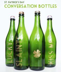 Make // St. Patrick's Day Conversation Bottles
