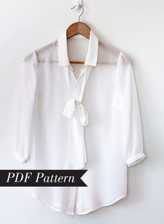 Gorgeous Pussy Bow Blouse PDF Pattern that you can make at home
