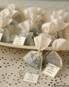 shower ideas, party favors, wedding shower favors, wedding favors, bag, wedding showers, loose leaf tea, wedding favours, parti