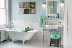 An 1850s row house bath gets gutted and reborn with better flow and reproduction fixtures. | Photo: Jason Varney | thisoldhouse.com