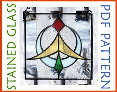 Stained Glass Pattern Art Deco Moon and Bird Suncatcher PDF. A simple, classic, Art Deco panel.  Easy to make and great for a beginner!  Click the pic to get the pattern!