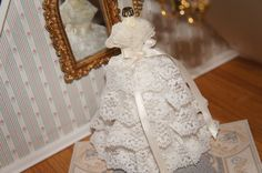 Miniature Victorian Dollhouse Wedding Gown - Centerpiece Collection