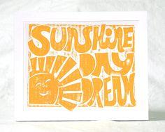 Sunshine Daydream Grateful Dead Baby Nursery Music Lyric. $18.00, via Etsy.